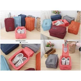 Promo - Monopoly Shoes Pouch Travel/Tas Tempat Sendal Sepatu/Shoes Bag Organizer