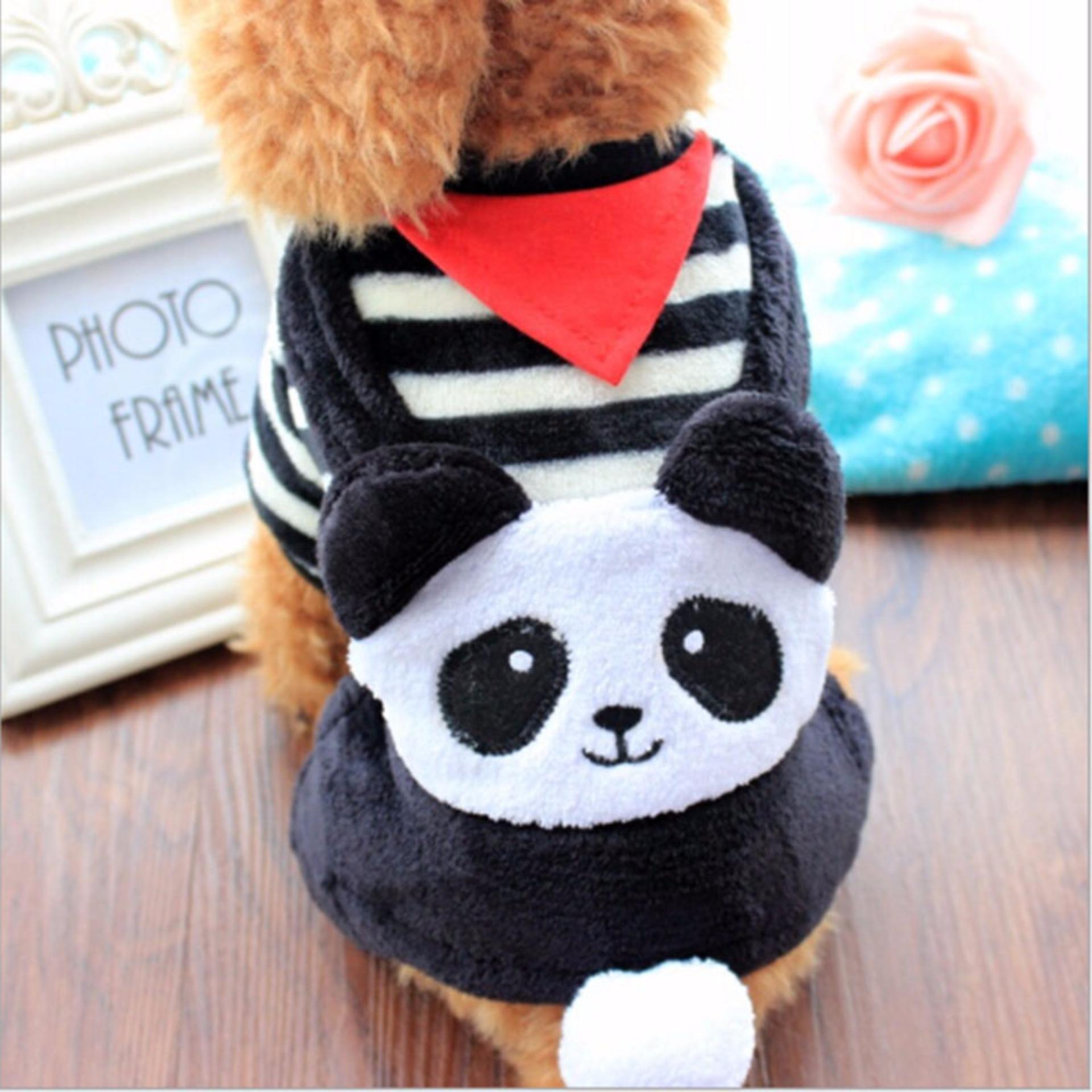 Puppy Pet Kostum / Baju Anjing Motif Panda (Model C) - Size M