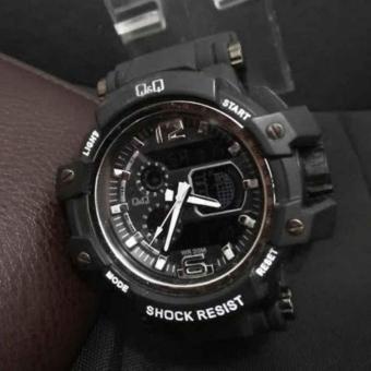 Q&Q Dual Time - Jam Tangan Sport Pria - Rubber Strap -QQ707CV .