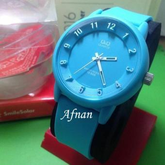 Q&Q Nano - Jam Tangan Wanita & Pria QQ 7865 AF - Analog Water Resist 10 M - Bahan Tali Rubber - Model Simple