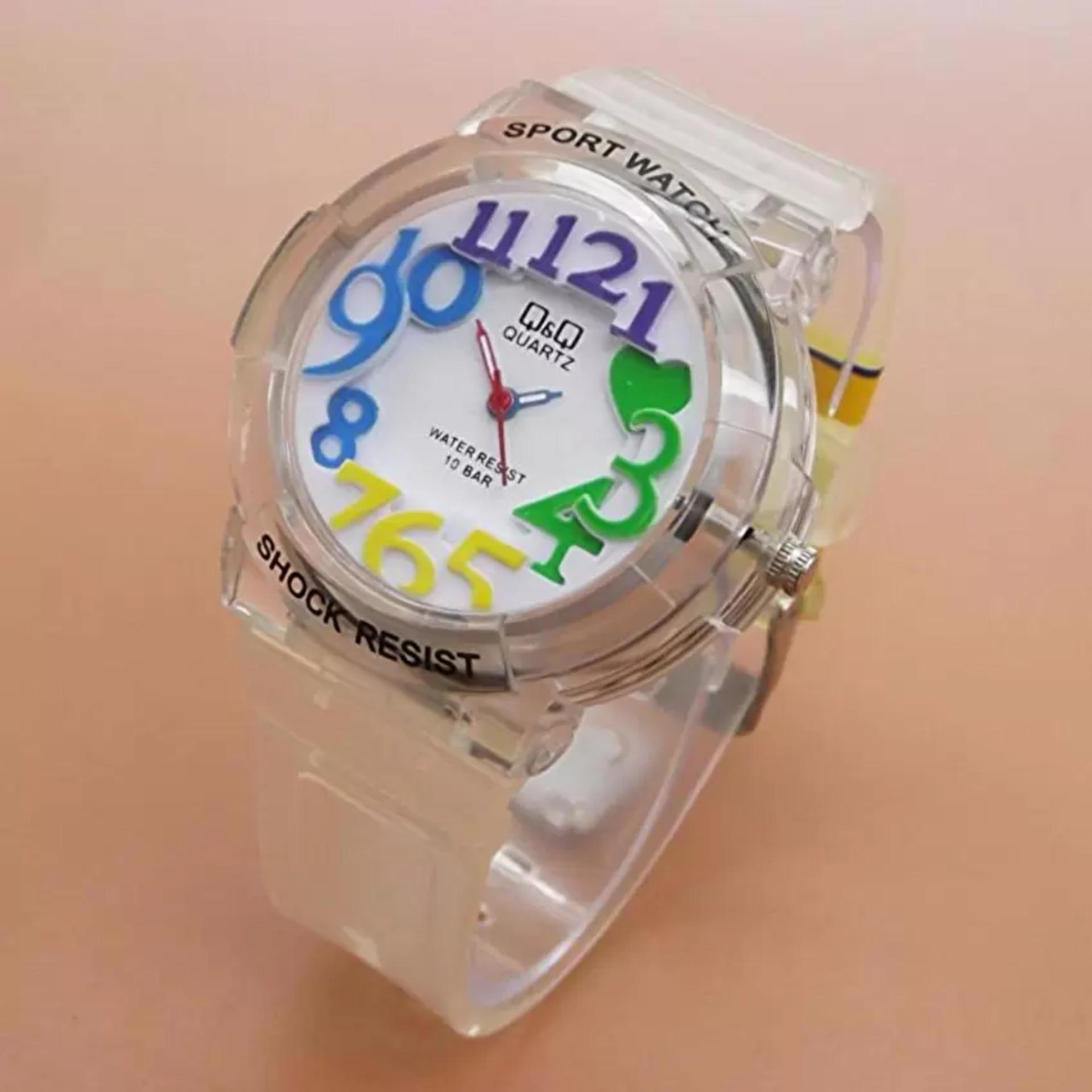 ... Q&Q Watch - Jam Tangan Anak Perempuan - Waterresist - Rubber Strap TERLARIS ...
