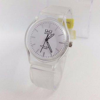 Q&Q Watch - Jam Tangan Wanita - Rubber Strap - Transparan Design - VQ86J027