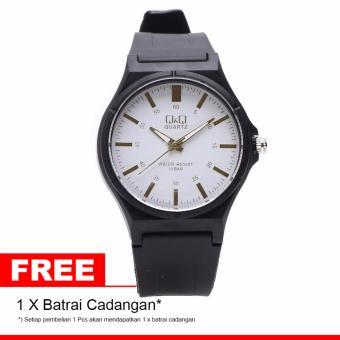 Q&Q Watch - VQ66J002Y - Jam Tangan Pria - Putih - Rubber Strap