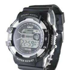 QQ Digital - Jam Tangan Pria & Wanita QQ 6754 HR - Alarm, Hari Tanggal, Stopwatch, Lampu - Bahan Tali Rubber Strap - Model KKasual