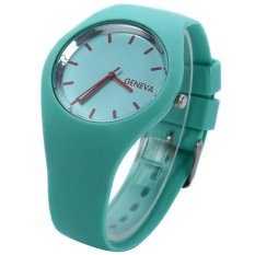 Quartz Watch for Women Silicone Strap Ultrathin Sports (Grass Green) - Intl
