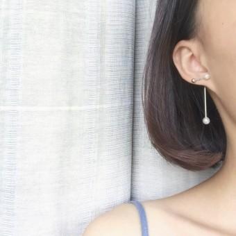 R341 fashion wanita ayat yang sama Korea anting-anting mutiara anting-anting