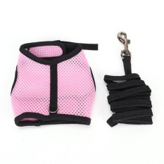 Rabbit squirrel mesh harness leash small pet vest suit outdoor jogging Size:M - intl
