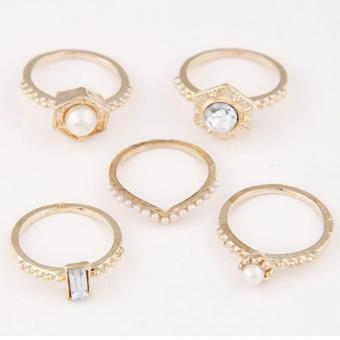 RCC2815 - Aksesoris Cincin Fashion Metal Ring Set