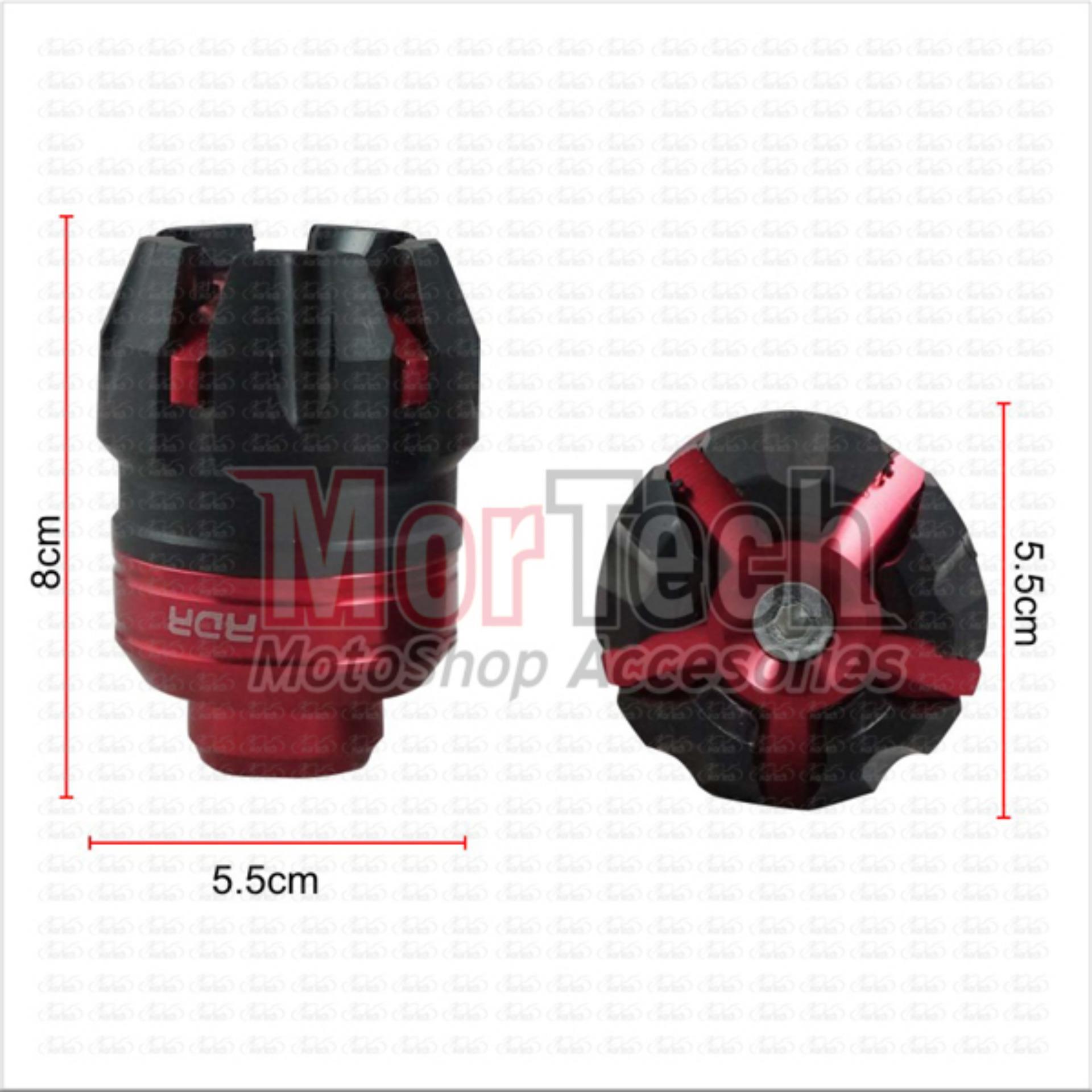 RDR Cover - Tutup - Jalu - Bandul as roda depan Mio J 1505 merah ...