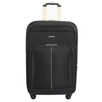 Real Polo Tas Koper Softcase Expandable 4 Roda 582- 20 Inchi - Hitam - Gratis