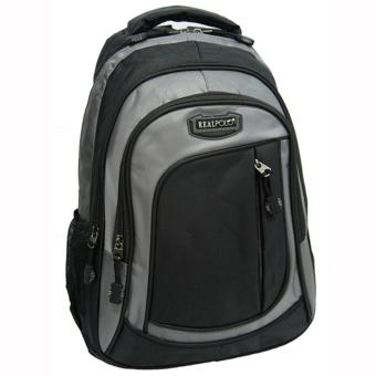 Real Polo Tas Ransel Kasual 6287 Backpack Daypack - Hitam