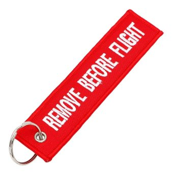 Remove Before Flight Interior Accessories Luggage Tag Label Keyring Car Key Rings Car-styling Keychains - intl