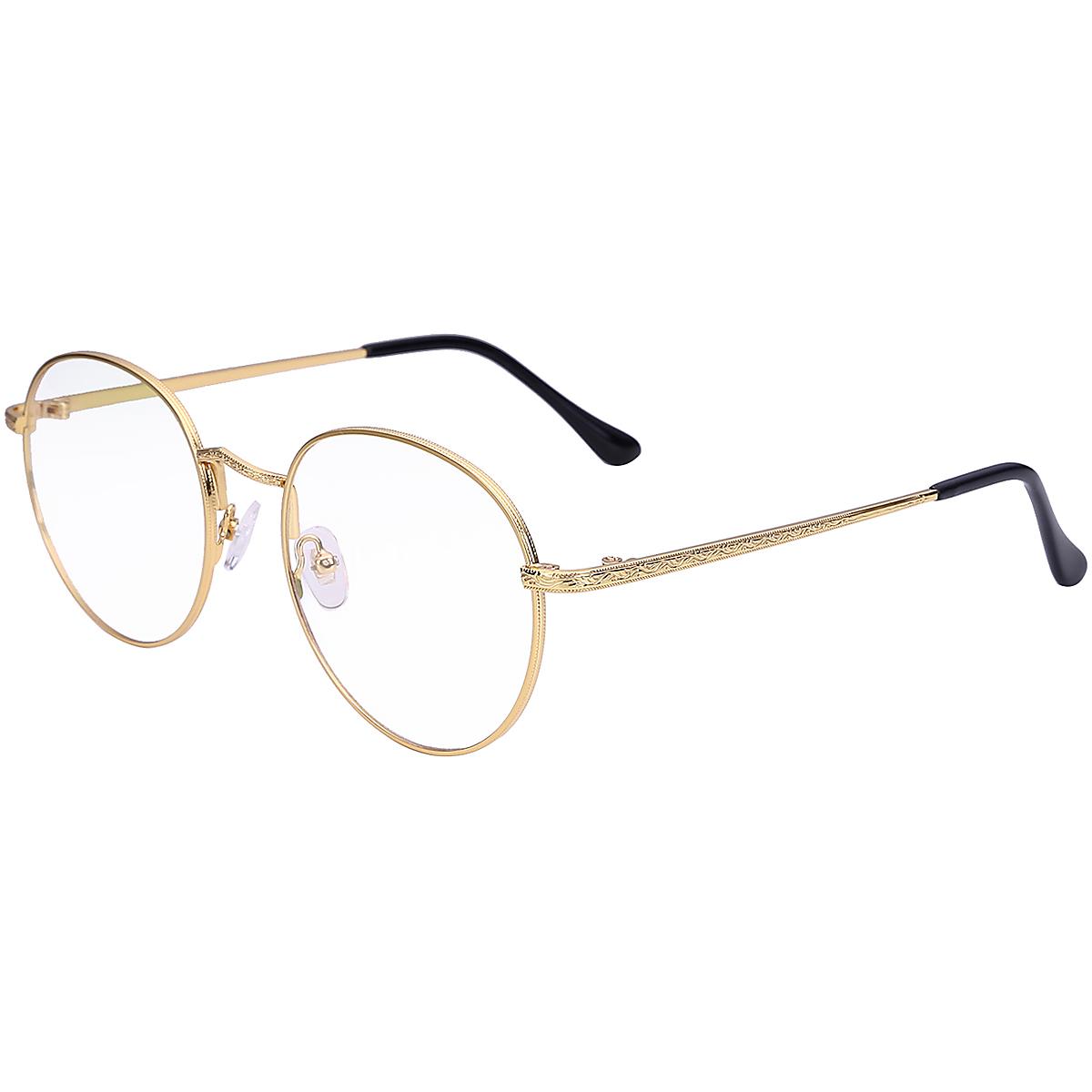 Pria Dan Wanita Kerangka Bulat Kaca Mata Netral Radiasi Kaca Mata ... 69a38e6fb1