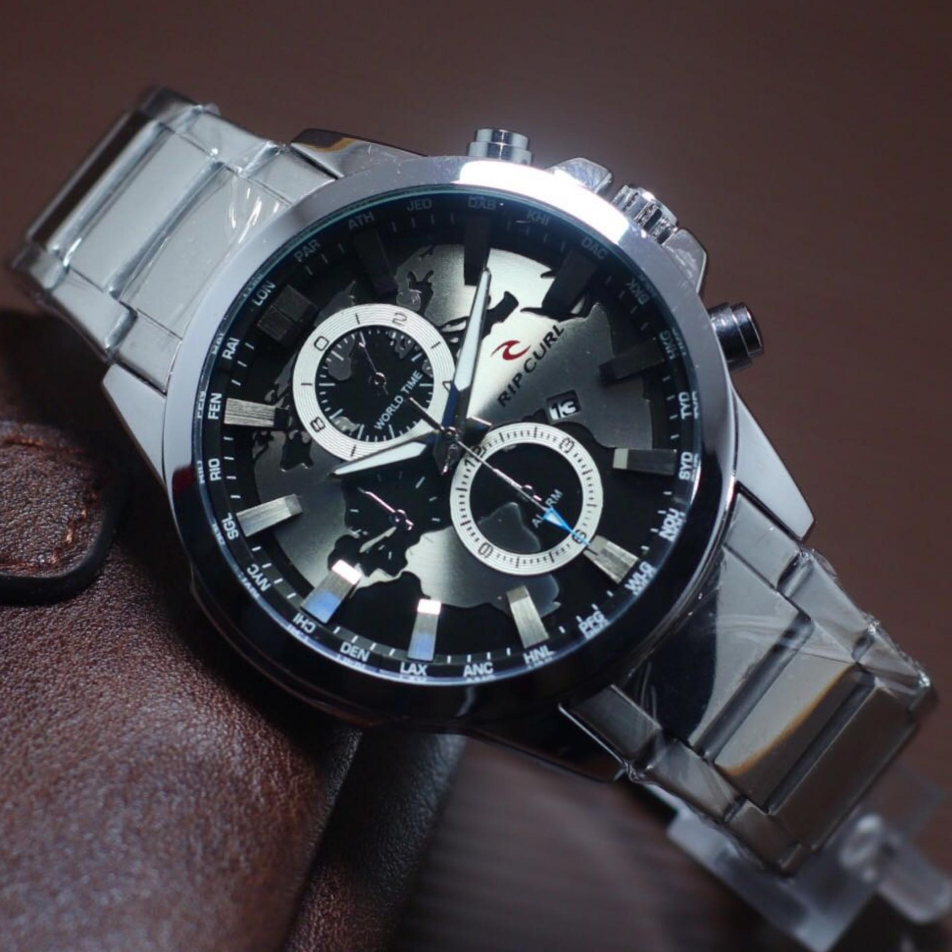 Rip Curl Jam Tangan Pria RC3117BC Stainless Steel Fiture Date And Chrono Active .
