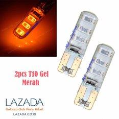 RL Lighting Led T10 Senja 6Led Gel / Jelly / Silicone Super Bright2pcs - Merah