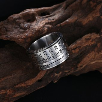 Muslim Religious Jewelry Metal Ring Titanium Jewelry Islamic Ring Source · Rotating Roman Numerals Ring for