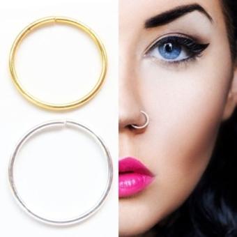 S925 style ayat yang sama cincin hidung kacang azuki sterling silver anting