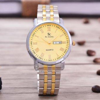 Bandingkan Simpan Saint Costie Original Brand, Jam Tangan Pria - Body Silver /Gold -