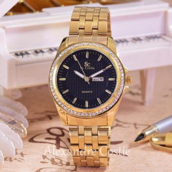 Saint Costie Original Brand - Jam Tangan Wanita-Body Gold-Black Dial - SC