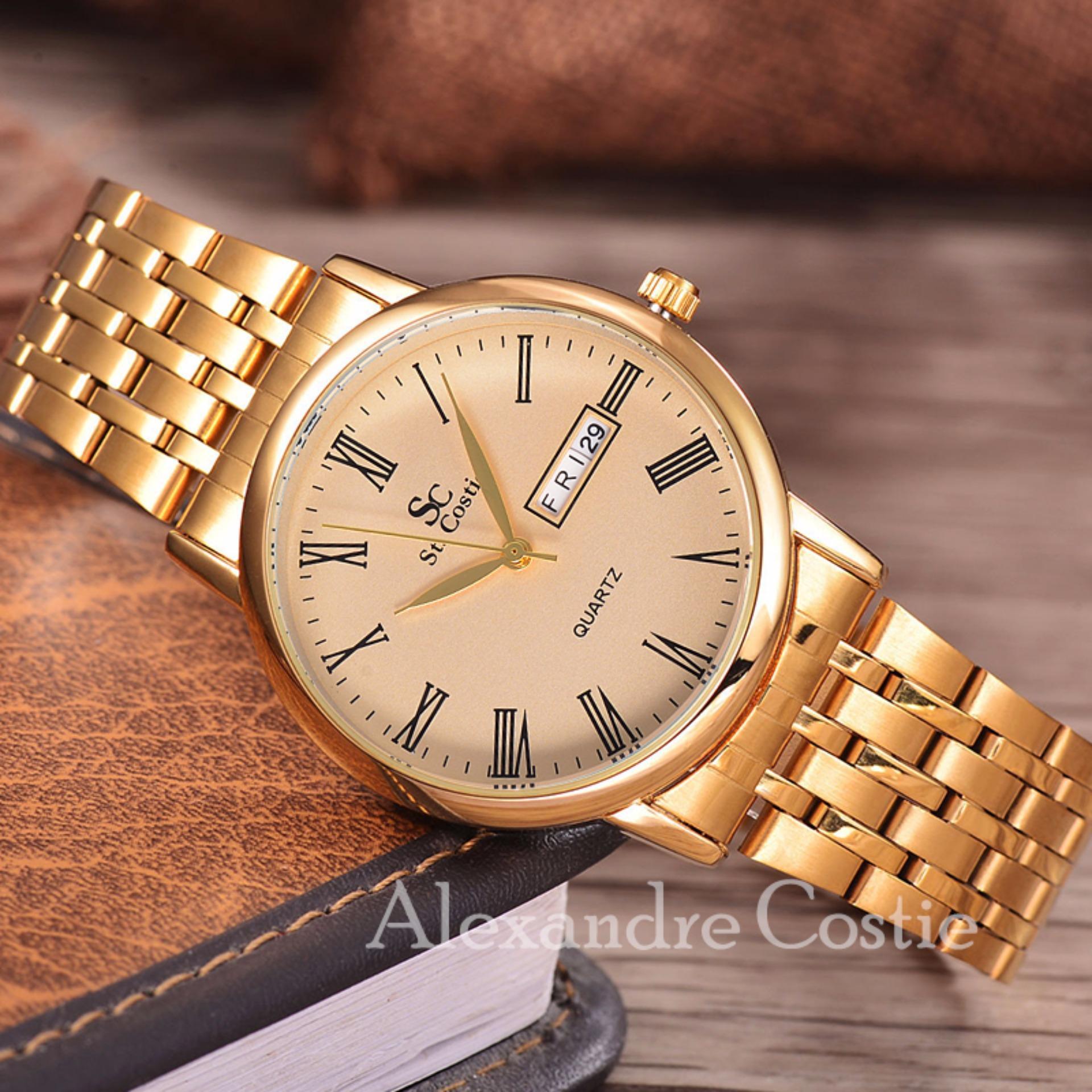 ... Saint Costie Original Brand, Jam Tangan Wanita - Body Gold - Gold Dial - Stainless ...