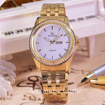 Saint Costie Original Brand - Jam Tangan Wanita-Body Gold-White Dial - SC