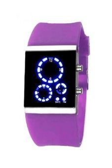 Sanwood® Unisex Silicone Strap LED Digital Sports Wrist Watch Purple