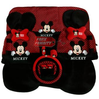 Sarung Jok Mobil / Bantal Mobil 18 in 1 / 18in1 Mickey Mouse HT