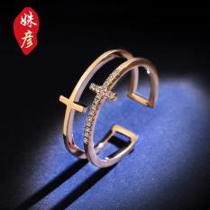 Orang Trendi Jepang Dan Korea Selatan Perempuan Cincin Cincin. Source · Saudara 18K sederhana baru naik berlapis emas cincin cincin