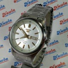 Seiko 5 Automatic SNKN87K1 Full Silver - Jam Pria SNKN87