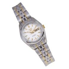 Seiko 5 Jam Tangan Wanita - Silver Emas - Stainless Steel - SYMA35K1