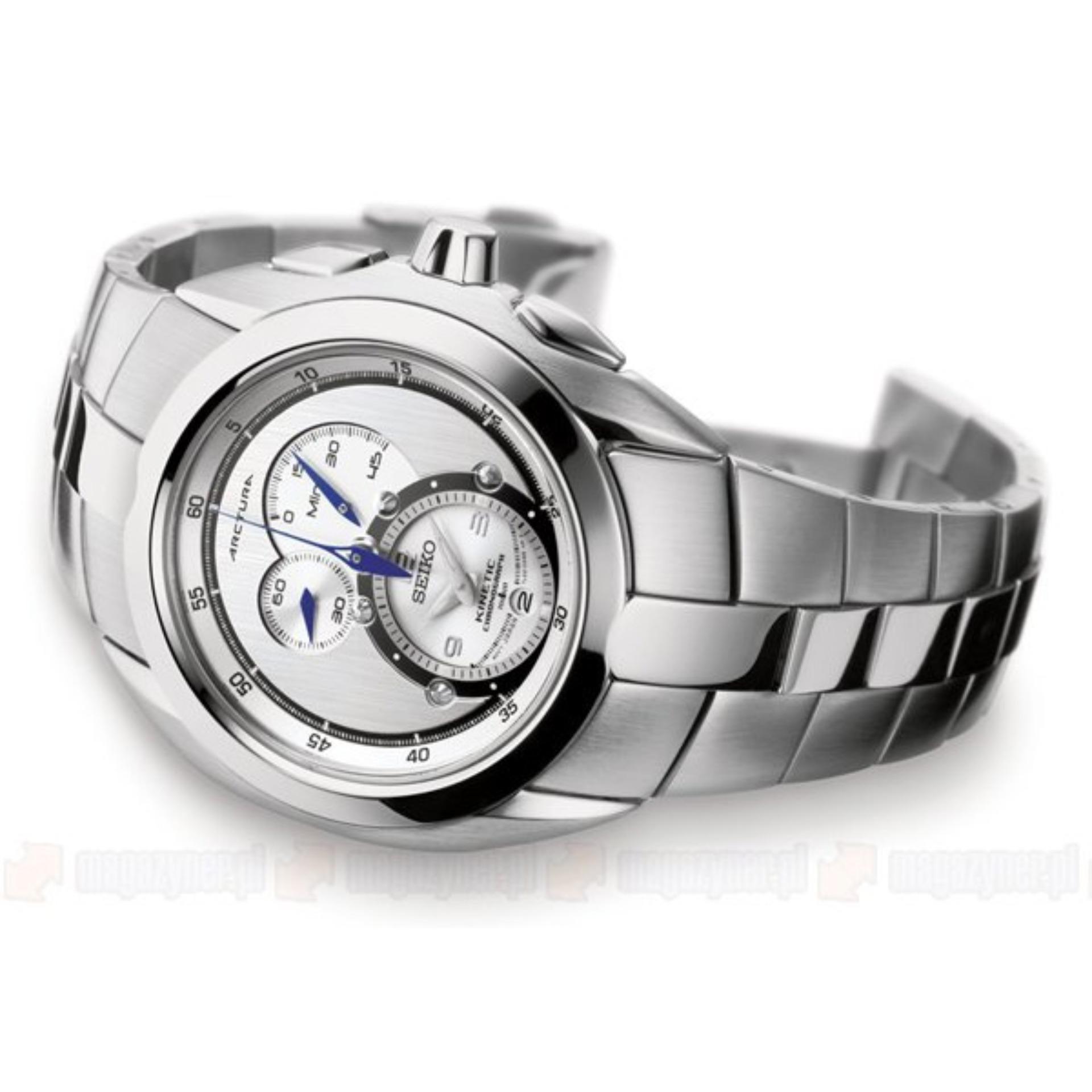 Pencarian Termurah Seiko Arctura Kinetic Chronograph Snl045p1 Jam Ska683p1 Silver Dial Stainless Steel Bracelet Tangan Pria Snl045