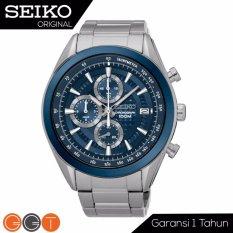 Seiko Chronograph Jam Tangan Pria - Strap Stainless Stell - SSB177P1 - Navy Blue