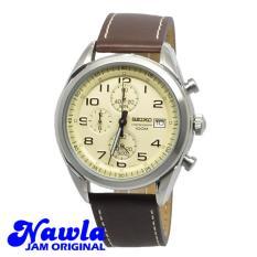 Seiko Quartz SSB273P1 Chronograph Brown Leather - Jam Tangan Pria SSB273