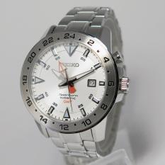 Seiko Sportura SUN025P1 GMT Kinetic Silver Dial - Jam Tangan Pria SUN025