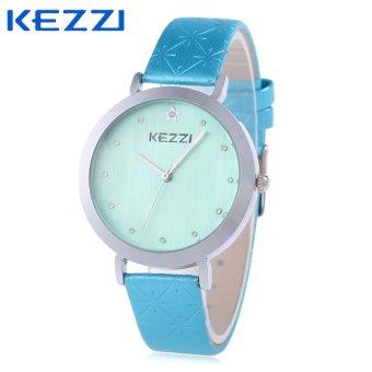 SH KEZZI K - 1350 Women Quartz Watch Pentagon Shape Mirror Water Resistance Wristwatch Blue - intl