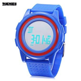 SH SKMEI 1206 LED Digital Watch 50m Water Resistance ChronographCalendar Alarm Sports Wristwatch Blue Blue - intl