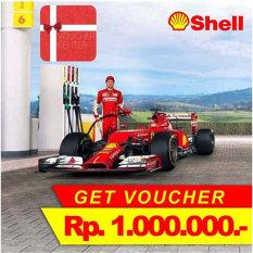 Shell Voucher BBM Mobil Rp 1.000.000 (10 PCS x Rp.100,000)