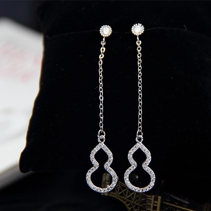 SHININGSTAR Jepang dan Korea Selatan 925 sterling silver perempuan style anting-anting labu anting