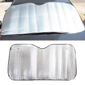 """Silver Aluminum Foil Sun Shade Car Windshield Visor Cover Block Front Window Sunshade UV Protect, Size: 150*80cm - intl\"""