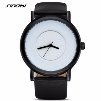 Sinobi Brand Quartz Ladies Wrist Watches Women Quartz Watch Casual Fashion Womens Watches (putih hitam)
