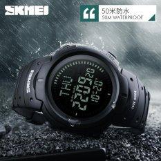 SKMEI 1231 SKMEI 1231 outdoor Man olahraga Compass Watches Hiking Digital LED elektronik Watch - hitam