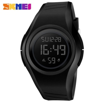 SKMEI 1269 Men and Women General Outdoor Sports Electronic Watches Black - intl