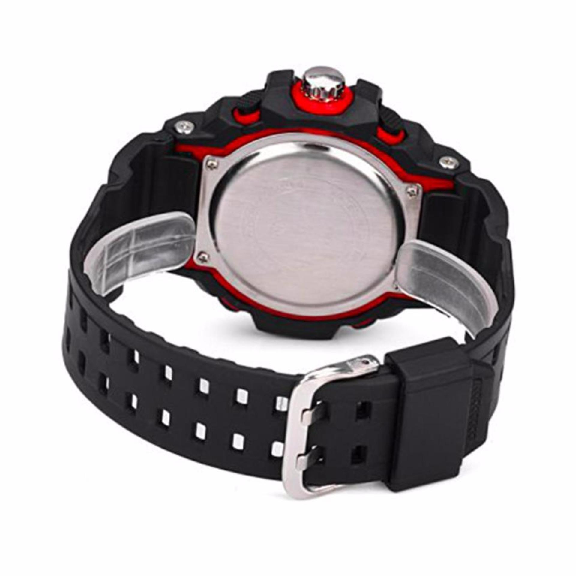 ... SKMEI Casio Dual Time Men Sport LED Watch Anti Air Water Resistant WR 50m AD1029 Jam ...