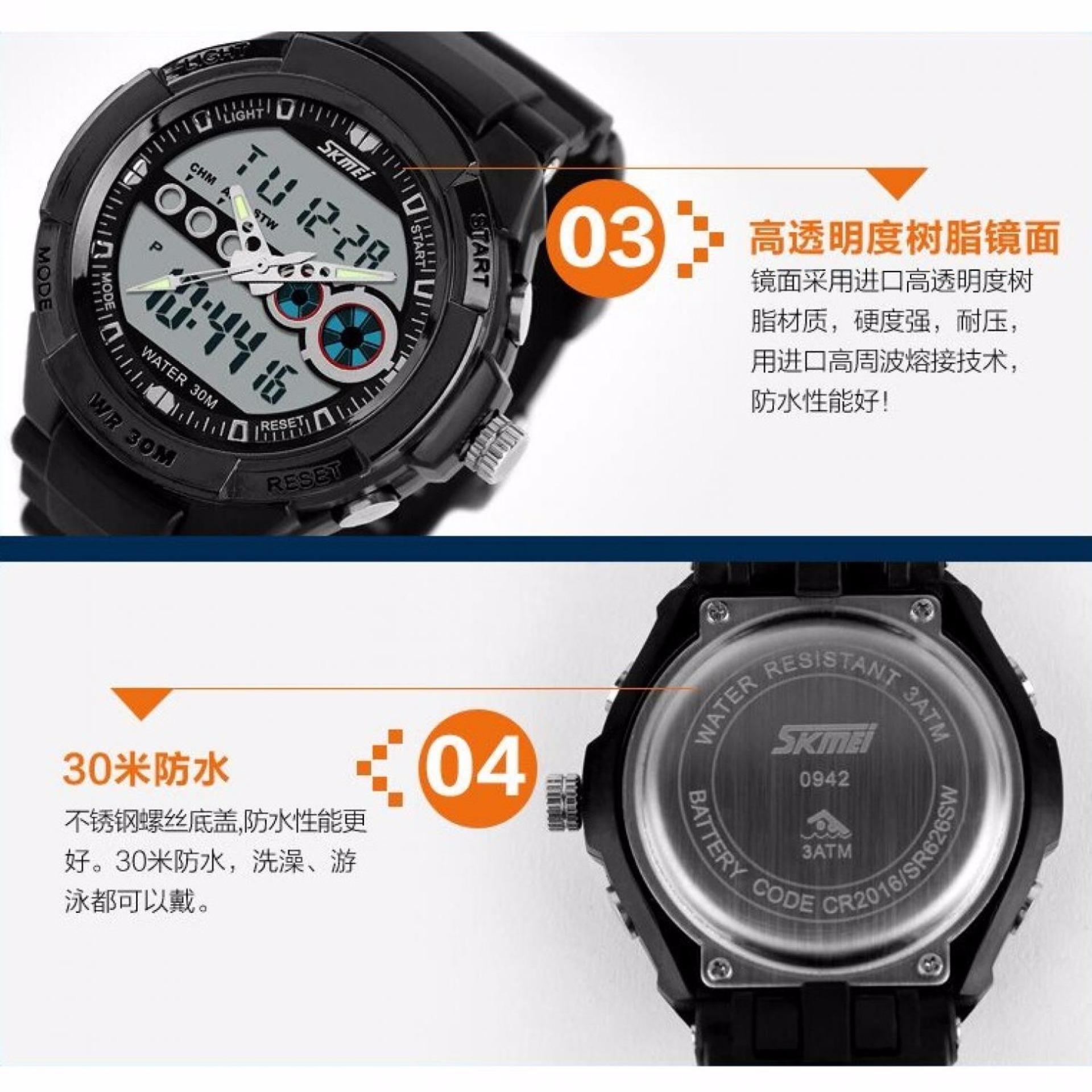 Skmei Casio Man Sport Led Watch Water Resistant 30m Ad0942 Daftar Jam Tangan Pria Analog Keren 9069cs