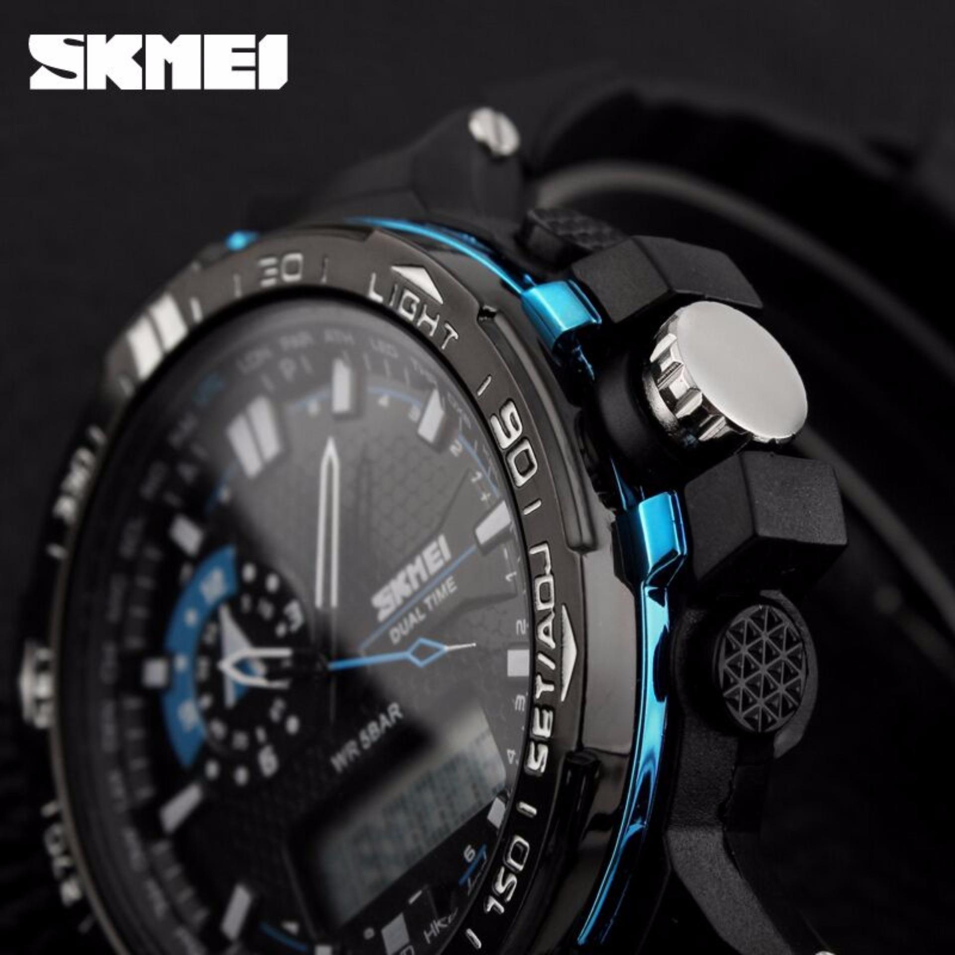 Skmei Casio Men Sport Led Watch Water Resistant 50m Ad1109 Hitam Jam Tangan Pria Solar Power Ad1064e Ad1081 Putih