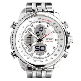 SKMEI Casio Men Sport LED Watch Water Resistant 50m - AD0993 - Putih Kualitas Original Garansi