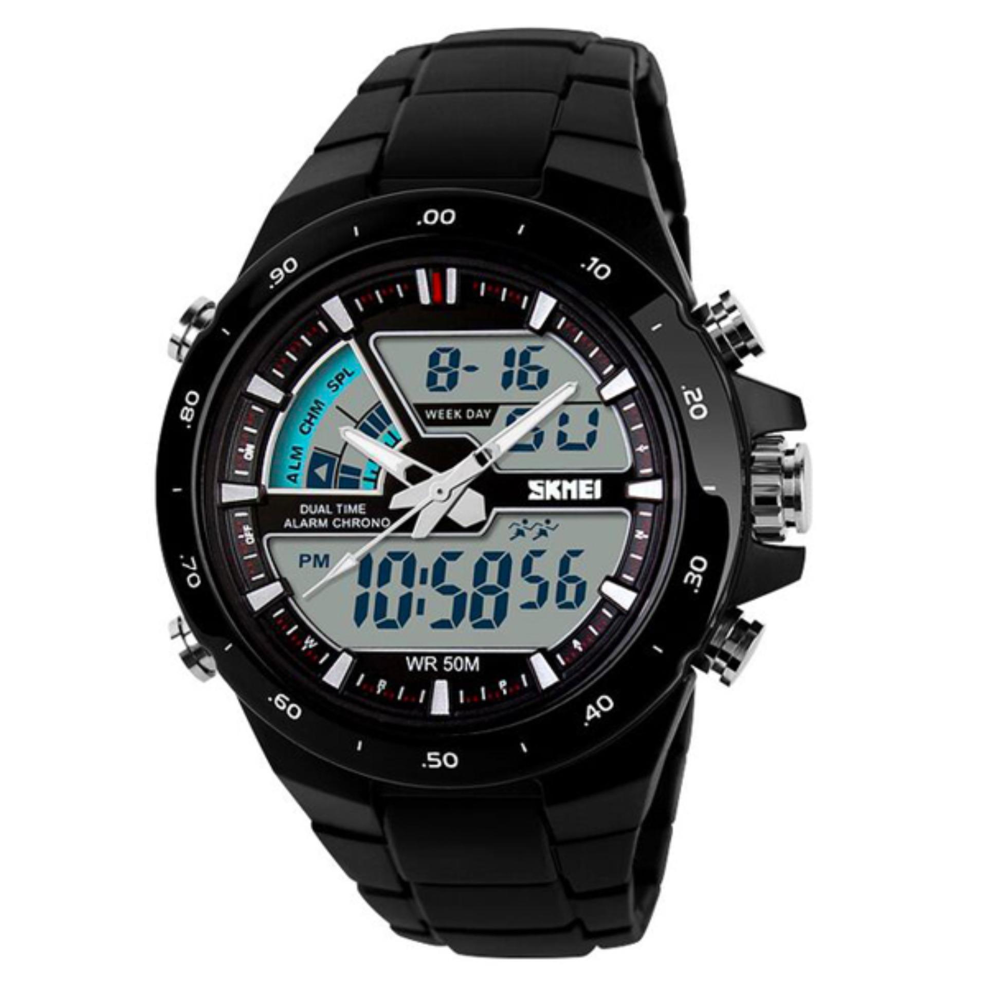 SKMEI Casio Men Sport LED Watch Water Resistant 50m AD1016 Jam Tangan Sporty Pria