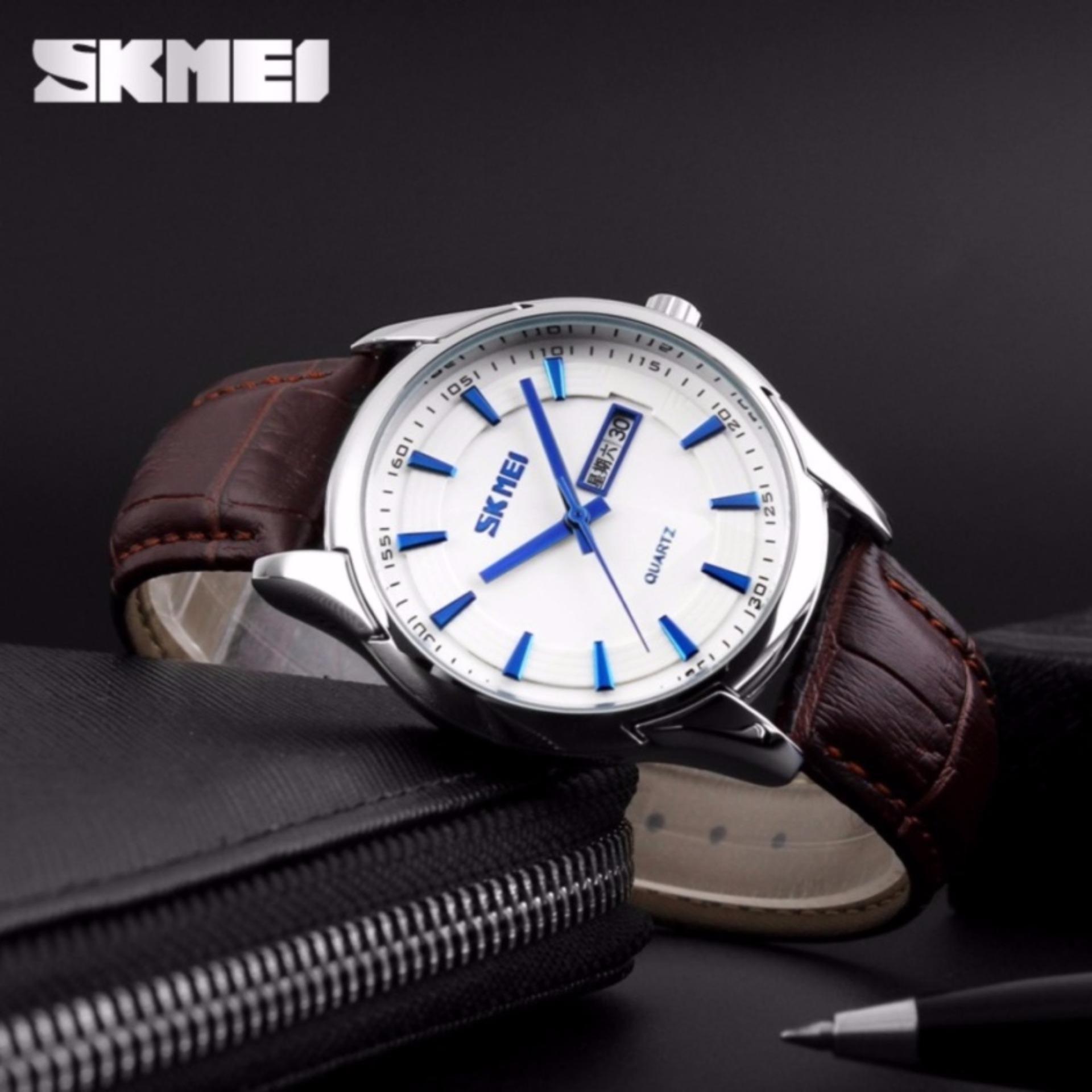 Skmei Casual Men Strap Watch 9070cl Water Resistant Anti Air Wr 30m Jam Tangan Pria Analog Keren 9069cs 9125cs Tali
