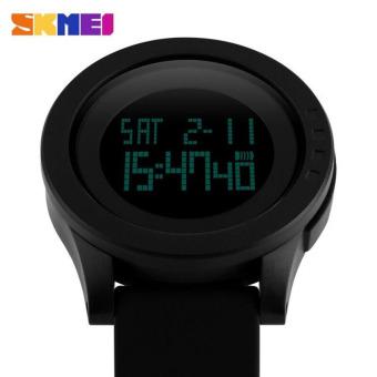 SKMEI Casual Trendi Men LED Display Watch Water Resistant 50m Jam Tangan Unisex .