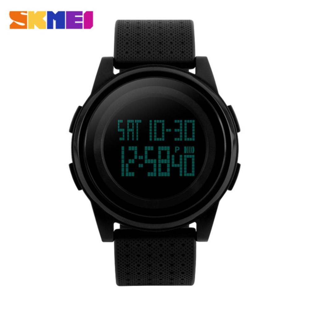 Warna Hanya HITAM SKMEI Digital Sport Watch Water Resistant 50m DG1206 Jam Tangan Day Date Night Light Stopwatch
